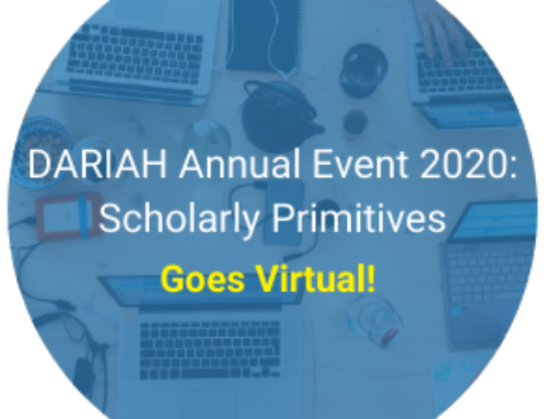 DARIAH ANNUAL EVENT 2020: SCHOLARLY PRIMITIVES